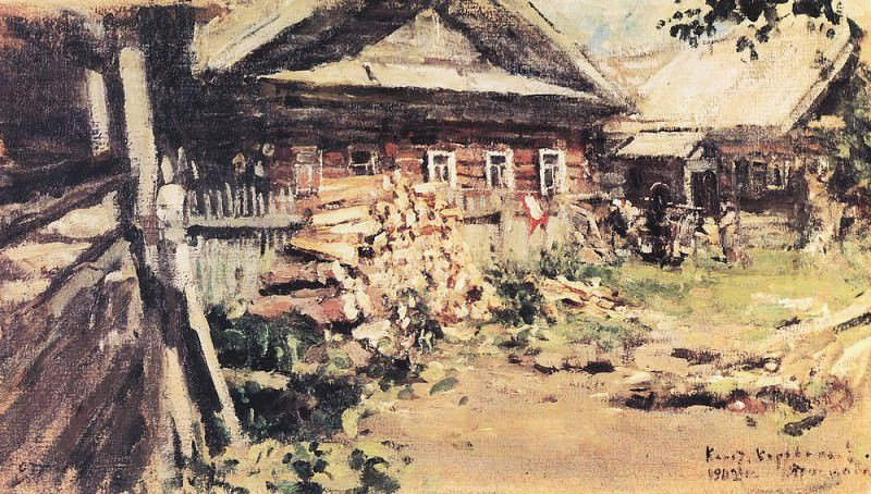 Village. 1902. Konstantin Alekseevich Korovin