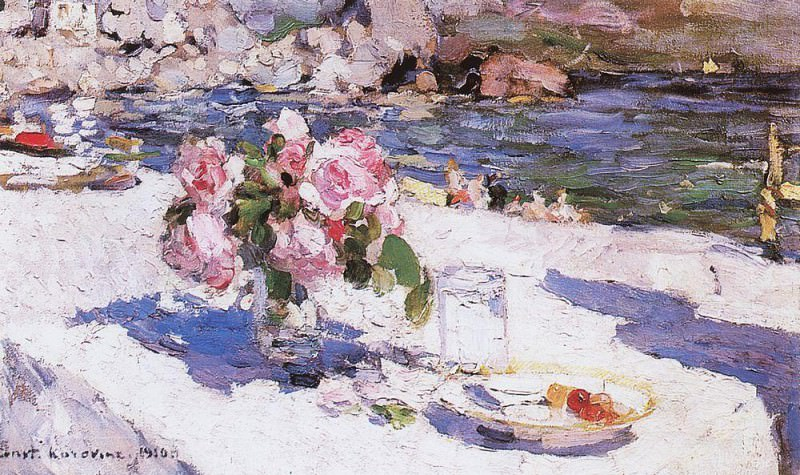 At the beach. 1910. Konstantin Alekseevich Korovin