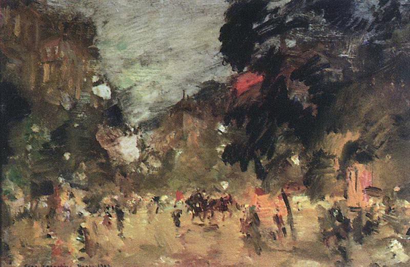 Paris boulevard. 1902. Konstantin Alekseevich Korovin