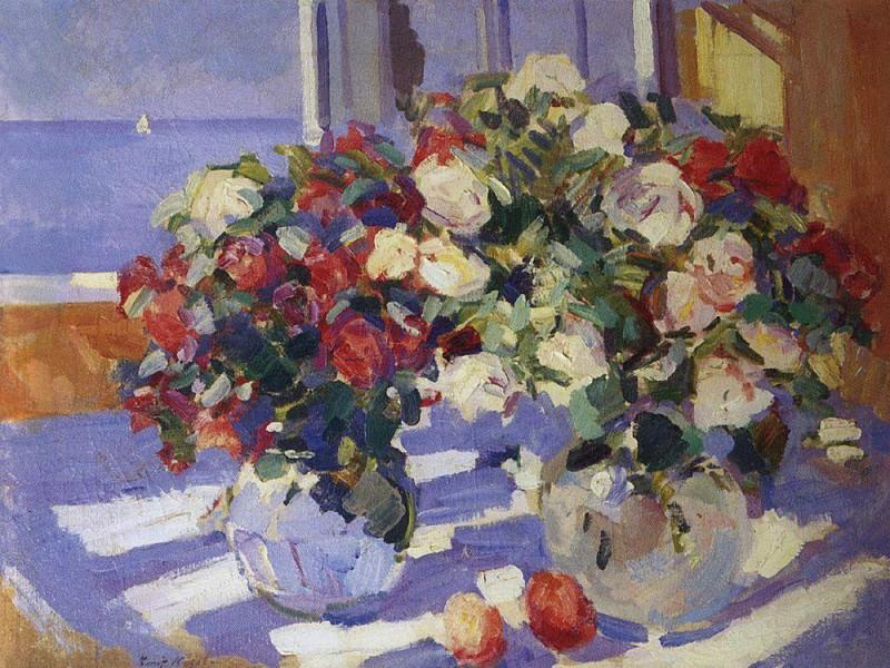 Roses. 1910. Konstantin Alekseevich Korovin