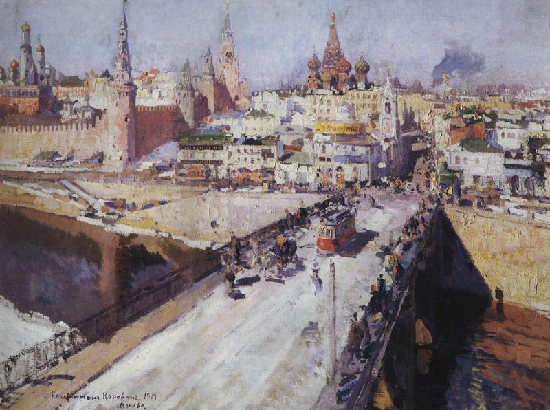 Moskvoretsky Bridge. 1914. Konstantin Alekseevich Korovin