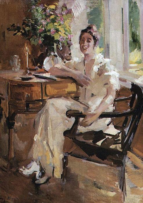 lady in the chair. 1917. Konstantin Alekseevich Korovin