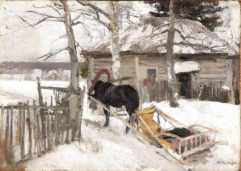 Зимой. Коровин Константин Алексеевич