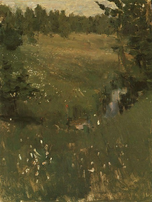 Stream. Mid 1880. Konstantin Alekseevich Korovin