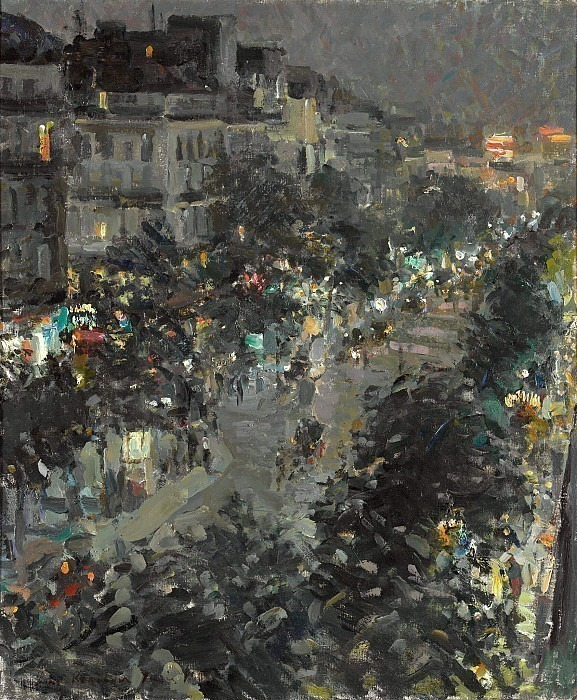 Paris at night. Italian boulevard. Konstantin Alekseevich Korovin