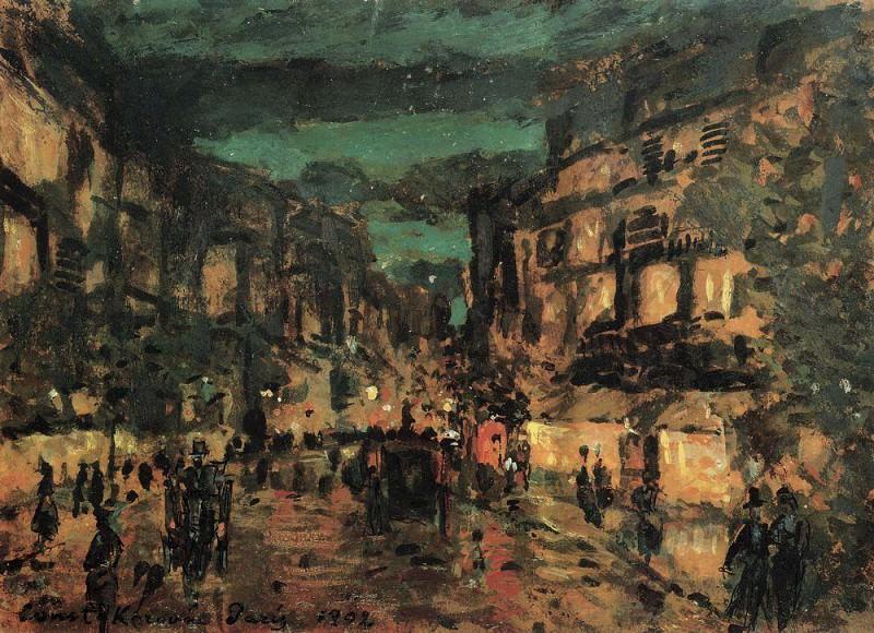 Ночная улица. Париж. 1902. Коровин Константин Алексеевич