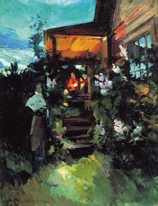 Summer evening on the porch. 1922. Konstantin Alekseevich Korovin