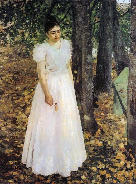 fall (Girl in the garden). 1891. Konstantin Alekseevich Korovin
