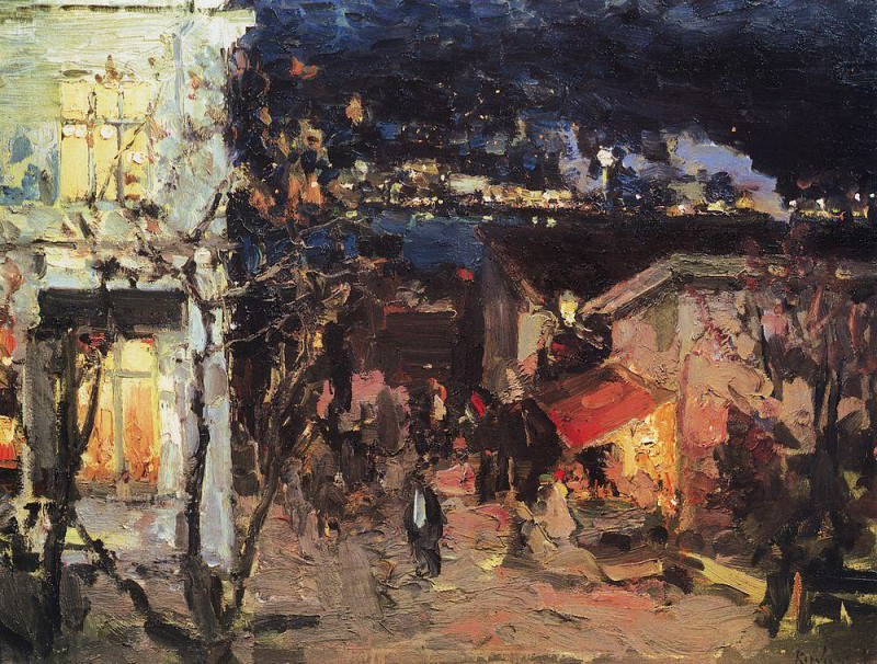 Yalta at night. 1905. Konstantin Alekseevich Korovin
