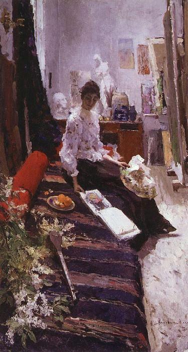 В мастерской художника. 1892. Коровин Константин Алексеевич