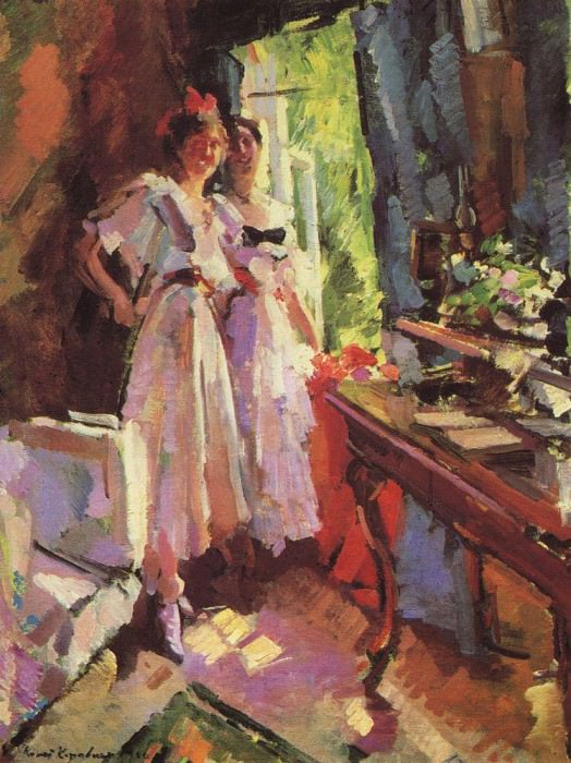 In the open window. 1916. Konstantin Alekseevich Korovin