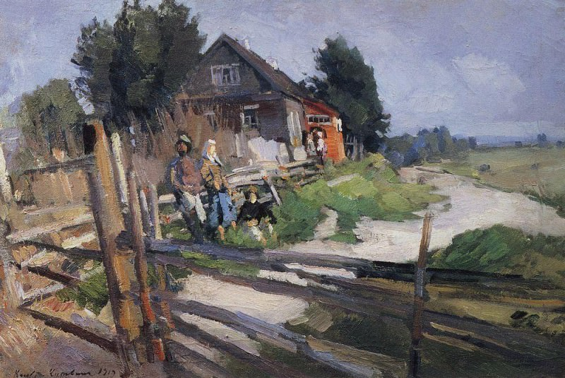 Пейзаж с изгородью. 1919. Коровин Константин Алексеевич