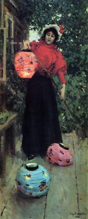 Paper lanterns. 1898. Konstantin Alekseevich Korovin