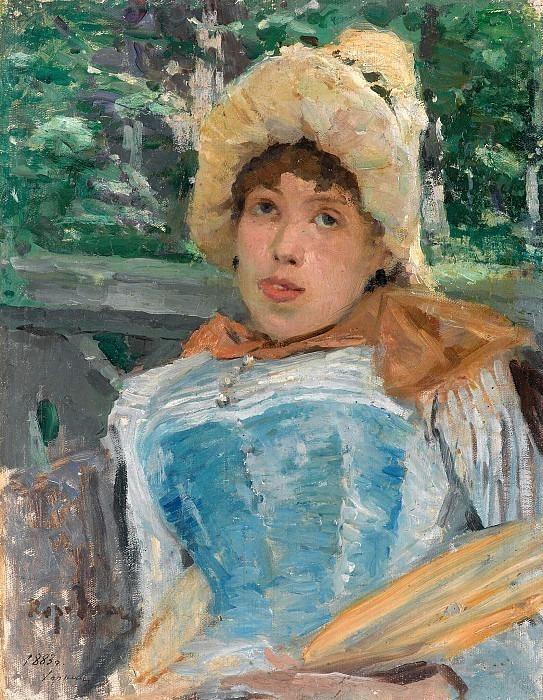 Portrait of a chorus girl. Konstantin Alekseevich Korovin