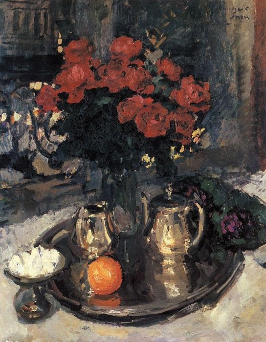 Roses and violets. 1912. Konstantin Alekseevich Korovin
