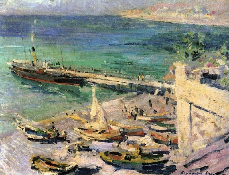 Pier in the Crimea. 1913. Konstantin Alekseevich Korovin