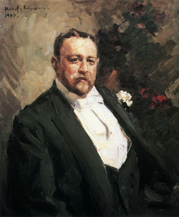 Portrait of Ivan Morozov. 1903. Konstantin Alekseevich Korovin