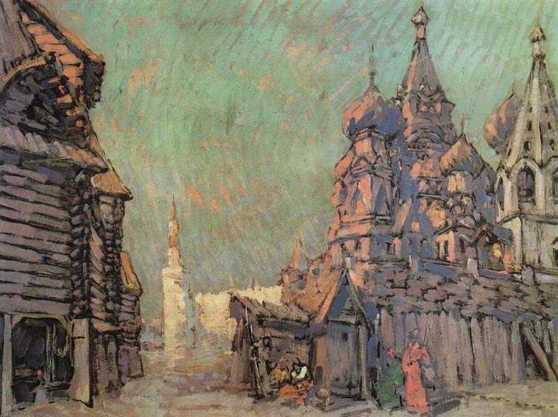 Red Square in Moscow. 1910. Konstantin Alekseevich Korovin