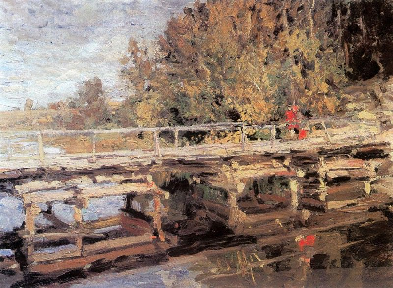 Autumn. On the bridge. 1910. Konstantin Alekseevich Korovin