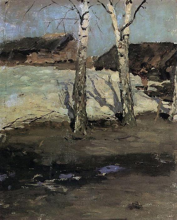 Last snow. 1870. Konstantin Alekseevich Korovin