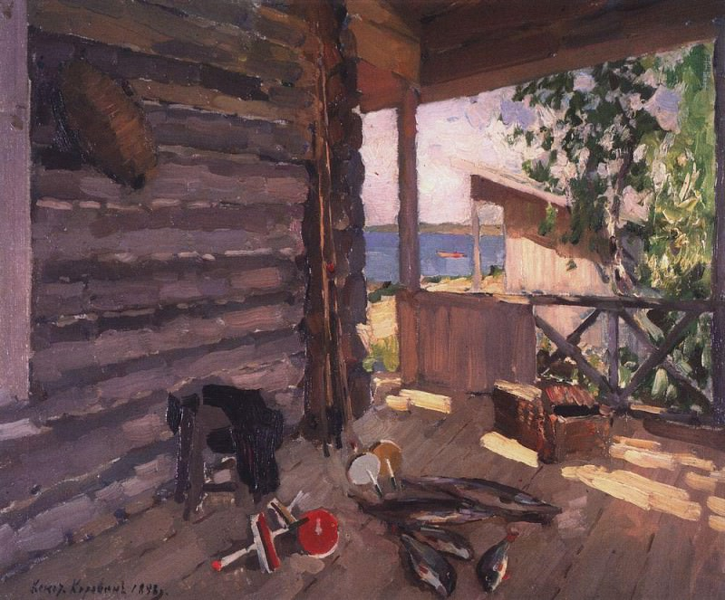 At Senezhskom lake. 1898. Konstantin Alekseevich Korovin