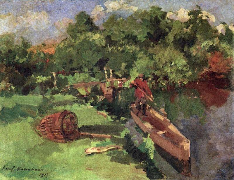 Landscape. 1917. Konstantin Alekseevich Korovin