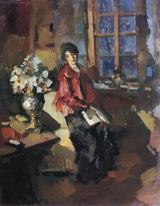 Actress Hope Komarovskaya. 1919. Konstantin Alekseevich Korovin