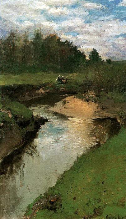 River Vorya. Abramtzevo. 1880. Konstantin Alekseevich Korovin
