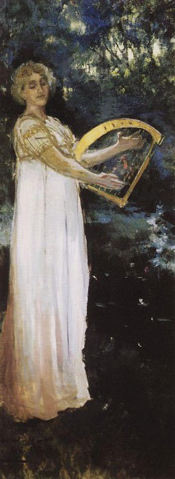 Muse. 1887. Konstantin Alekseevich Korovin