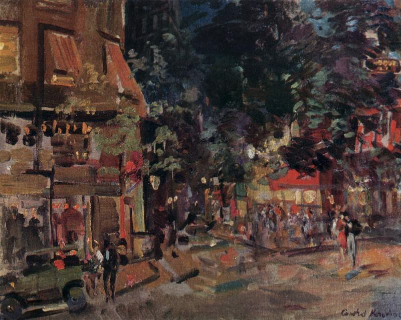 Montmartre evening. 1930. Konstantin Alekseevich Korovin