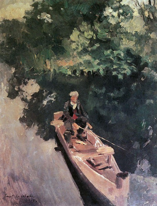In the boat. 1915. Konstantin Alekseevich Korovin