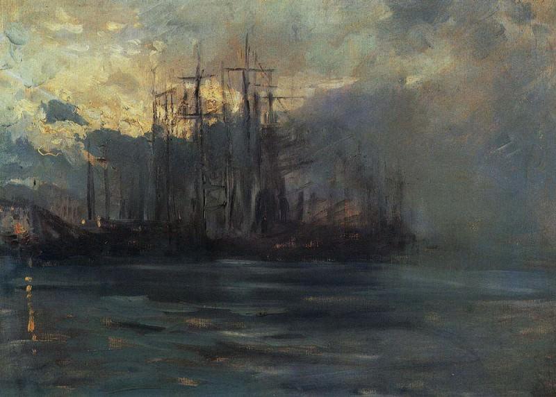 Port in Marsele1. 1890. Konstantin Alekseevich Korovin