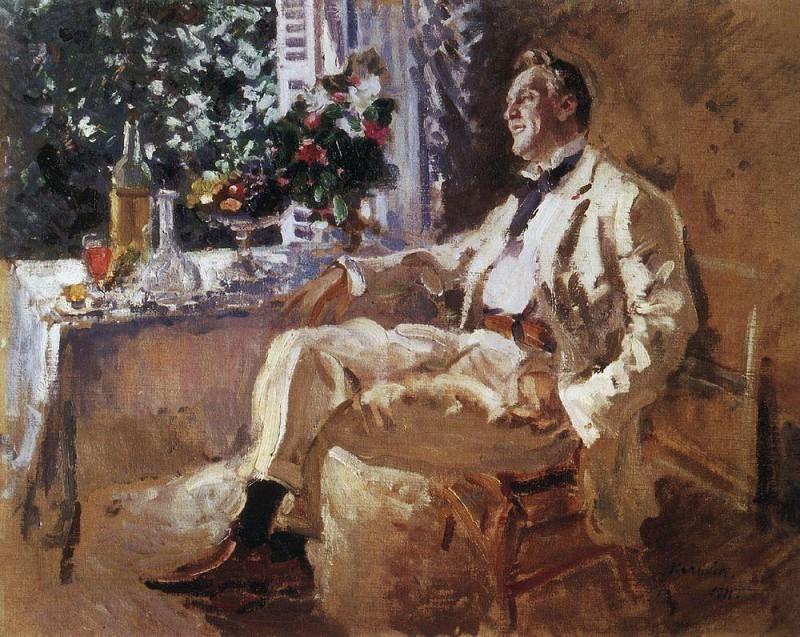 Portrait FIShalyapin. 1911. Konstantin Alekseevich Korovin