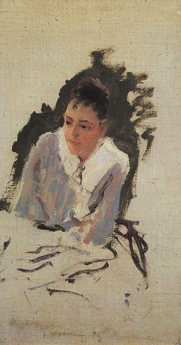 Portrait of the artist MV Yakunchikova. Mid 1880. Konstantin Alekseevich Korovin
