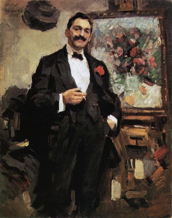 Portrait of the Hungarian artist Jozef Ripple-Ronai. 1912. Konstantin Alekseevich Korovin