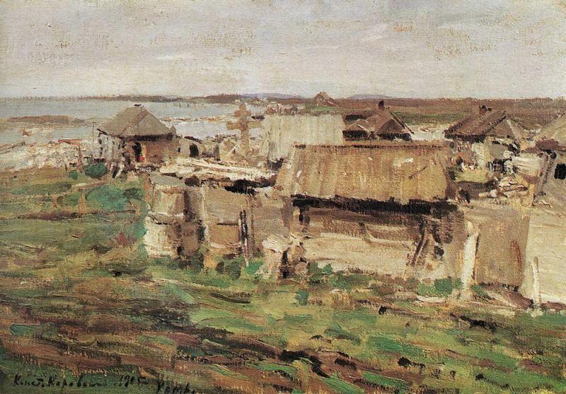 Type of settlement. Kem. 1905. Konstantin Alekseevich Korovin