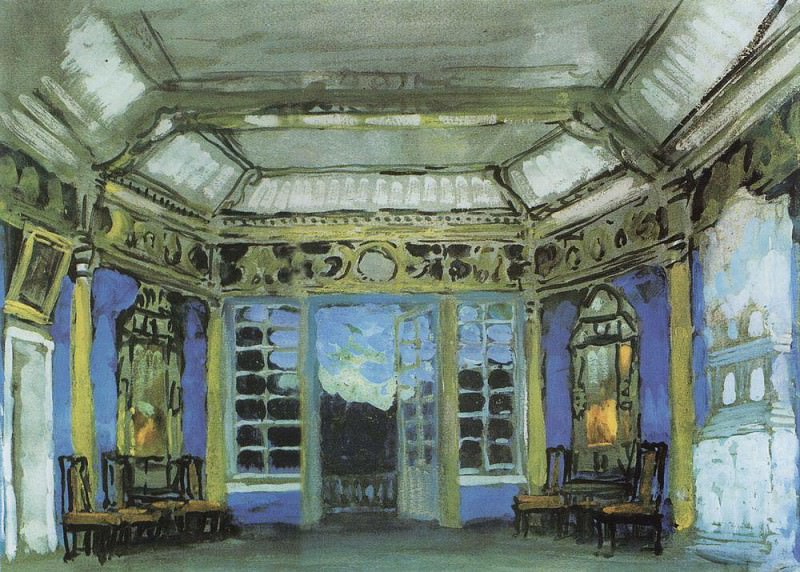 Summer cabinet of Prince Vasily Golitsyn. 1911. Konstantin Alekseevich Korovin