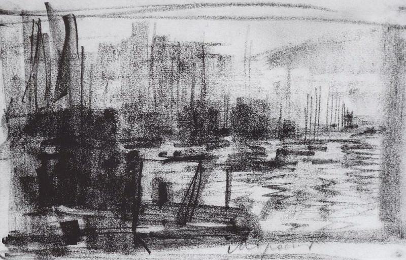 Harbour in Marseilles. 1890. Konstantin Alekseevich Korovin
