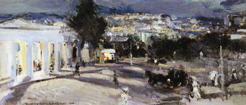 Sevastopol in the evening. 1915. Konstantin Alekseevich Korovin
