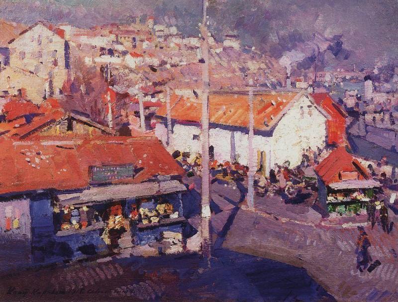 Севастопольский базар. 1915. Коровин Константин Алексеевич