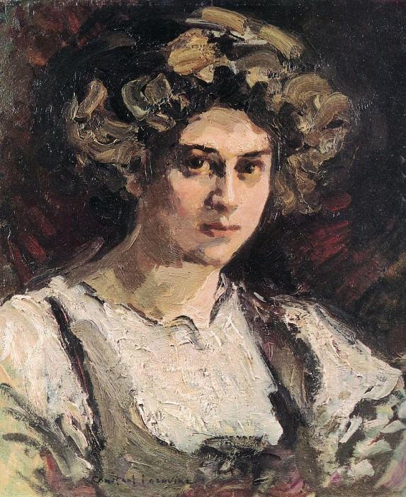 Portrait of Nadezhda Komarovskaya. 1910. Konstantin Alekseevich Korovin