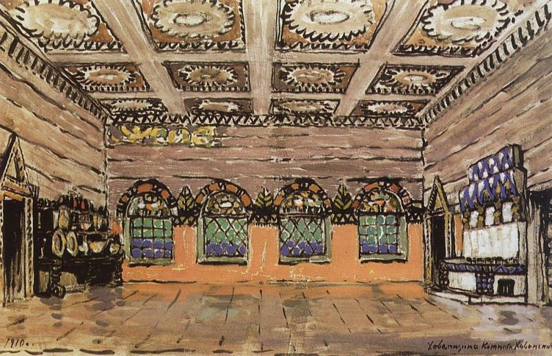 refectory in the house of Ivan Khovansky. 1910. Konstantin Alekseevich Korovin