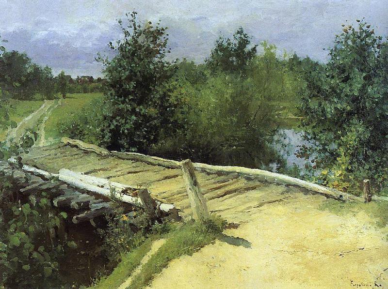 Bridge. 1880. Konstantin Alekseevich Korovin