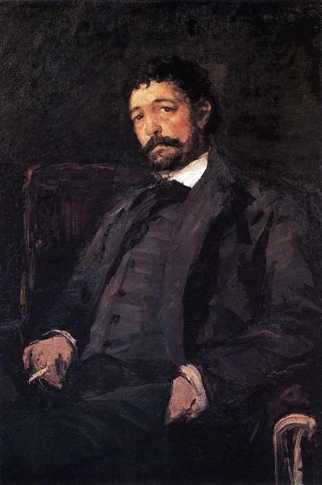 Portrait of Italian singer Angelo Masini. 1890. Konstantin Alekseevich Korovin