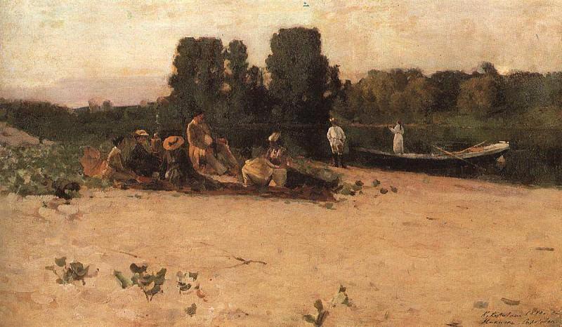 Picnic. 1880. Konstantin Alekseevich Korovin