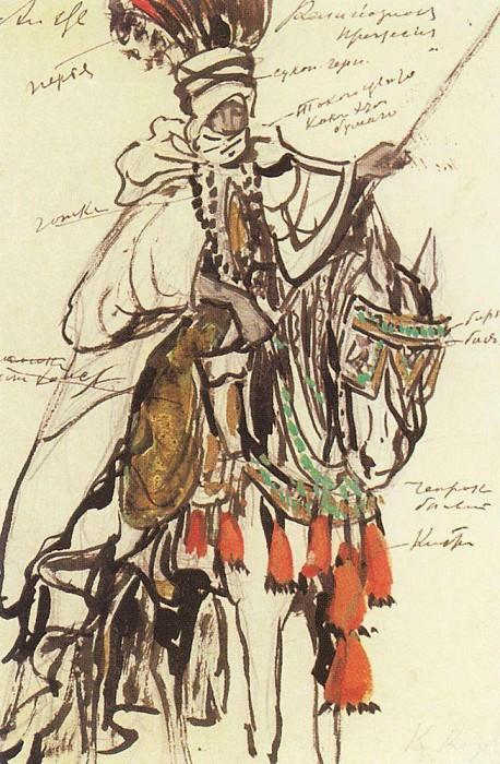 Всадник из религиозной процесии. 1908. Коровин Константин Алексеевич