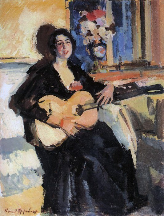 Lady with the guitar. 1911. Konstantin Alekseevich Korovin