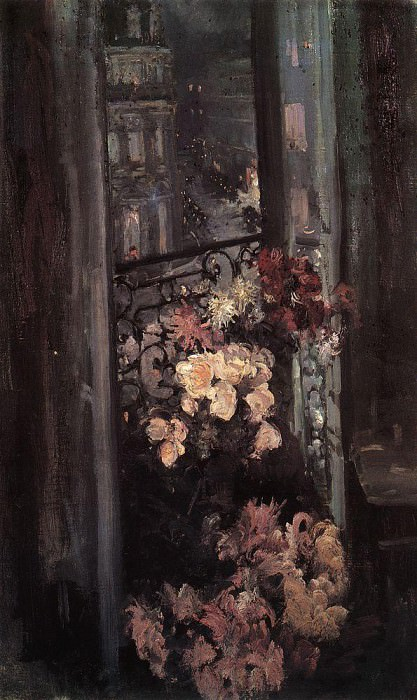 Terrace. Paris. 1908. Konstantin Alekseevich Korovin