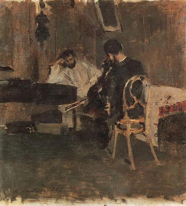 В комнате. 1886. Коровин Константин Алексеевич