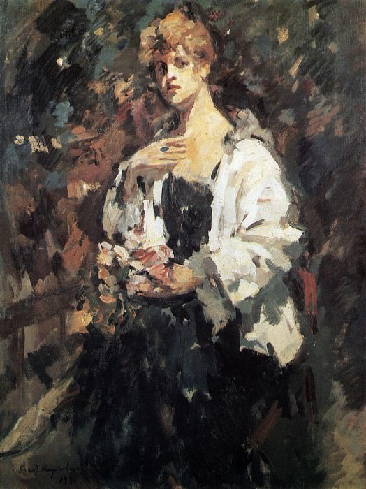 Portrait ZN Pepper. 1921. Konstantin Alekseevich Korovin